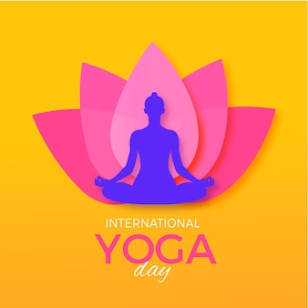 International day of yoga illustration design