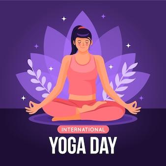 International day of yoga illustration design