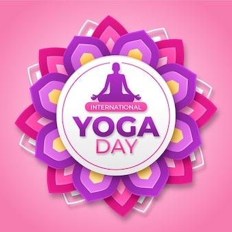 International day of yoga illustration theme