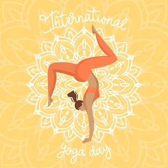 International day of yoga illustration