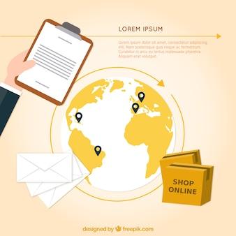 International delivery background