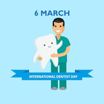 International dentist day. march 6