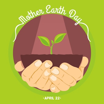 International earth day background flat design