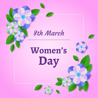 International floral women's day