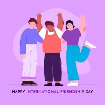 International friendship day illustration
