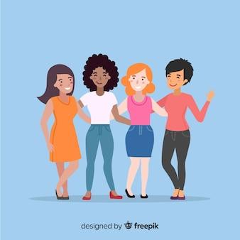 평면 디자인의 국제 여성 그룹