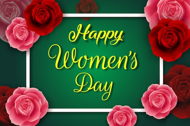 International happy women's day poster