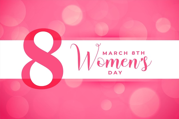 International happy womens day pink card