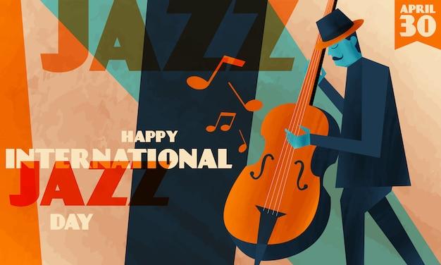 International jazz day background