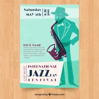 国際ジャズデーフェスティバルビンテージポスター