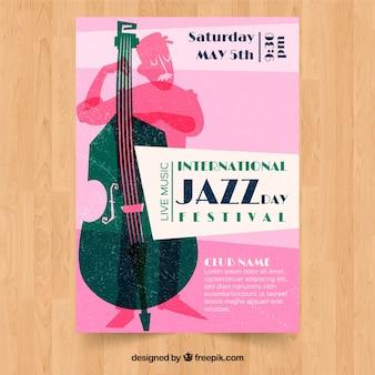 International jazz day festival vintage poster