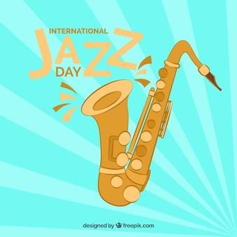 International jazz day flat background