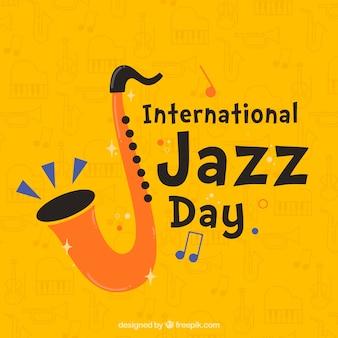 Fondo piatto giorno internazionale di jazz