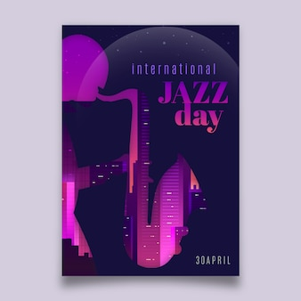 International jazz day flyer template style