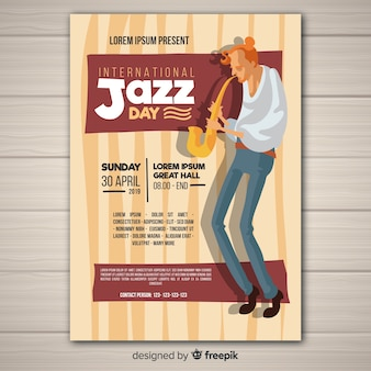 International jazz day flyer