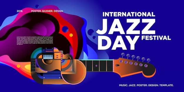 International jazz day poster and banner
