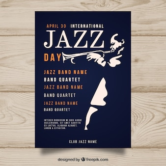 International jazz day poster in flat design