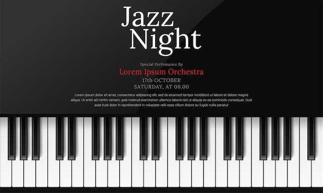 ピアノと国際ジャズデーのポスターテンプレート