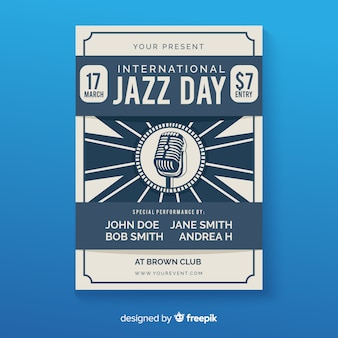 International jazz day poster template