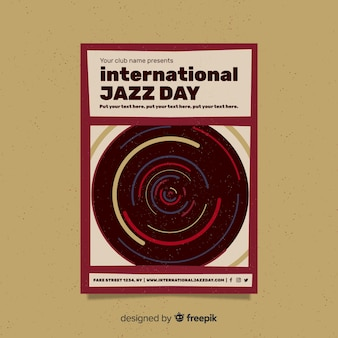 International jazz day retro vintage flyer / poster