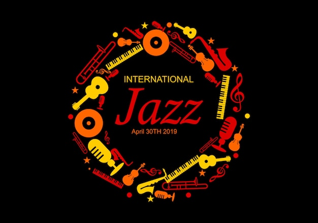 International jazz day vector illustration