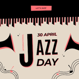 International jazz day with piano and trumpets