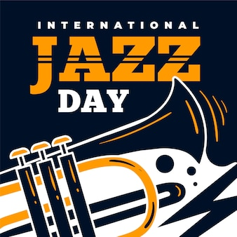 International jazz day with trumpet