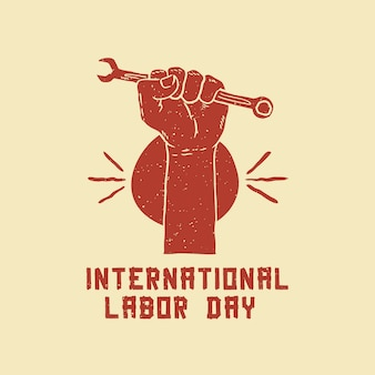 International labor day handdrawing poster