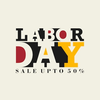 International labor day typographic card with light background