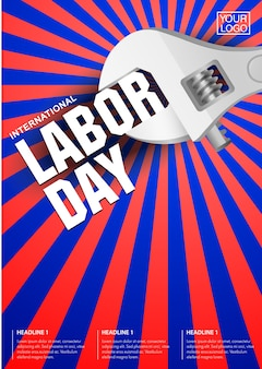 International labour day poster template.
