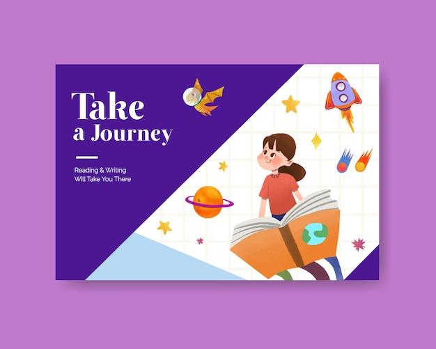 International literacy day concept design