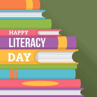 Международный день грамотности плоский дизайн
