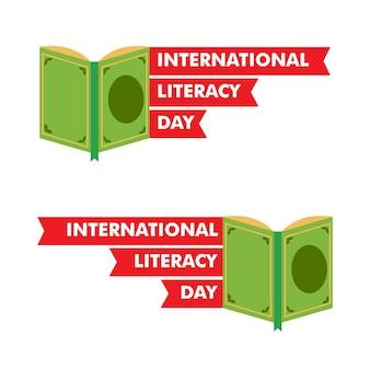 국제 문맹 퇴치의 날 그림입니다. 책 일러스트 디자인 컨셉