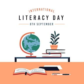 Illustrazione di giornata internazionale dell'alfabetizzazione