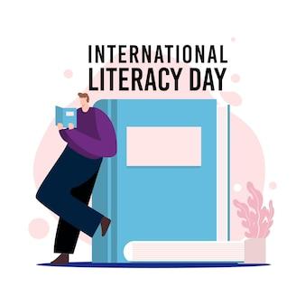 Международный день грамотности в плоском дизайне