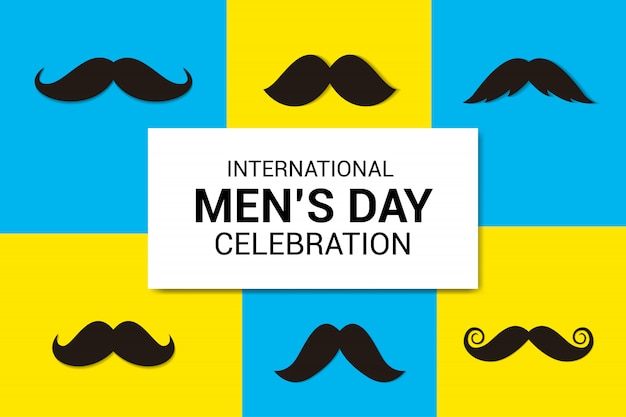 International men's day celebration background
