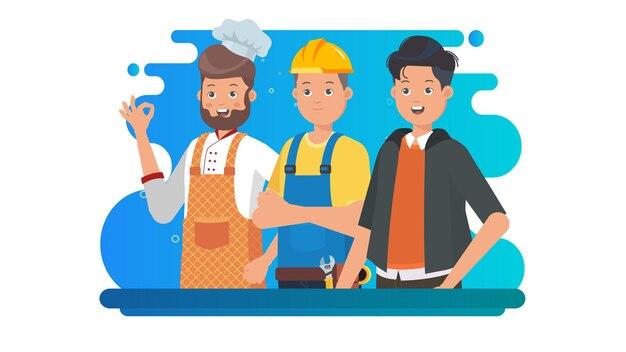Международный мужской день иллюстрации фона