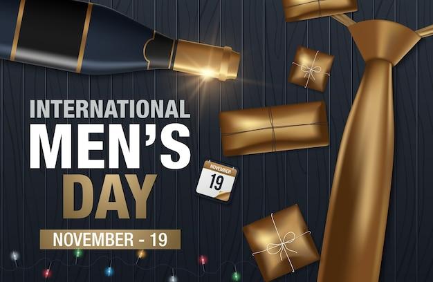 Международный мужской векторный вектор поздравительной открытки