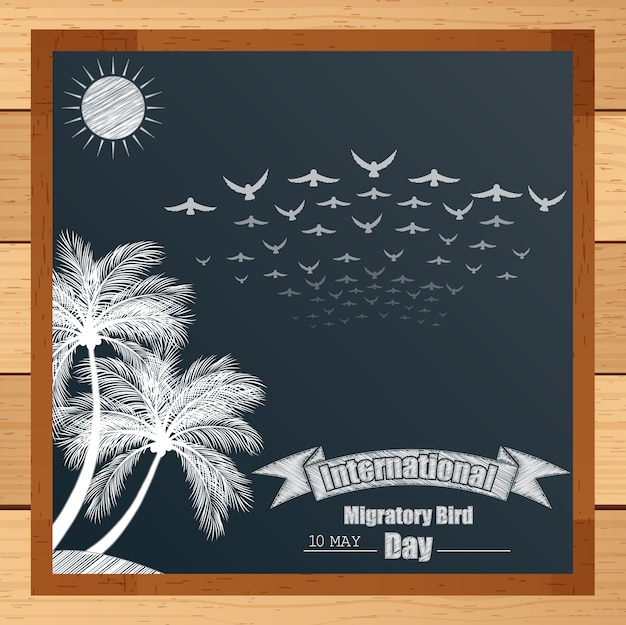 International migratory bird banner