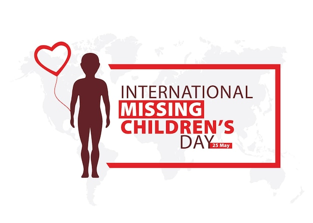 International missing childrens day forget me not flowers lost children vector illustration Premium Vector