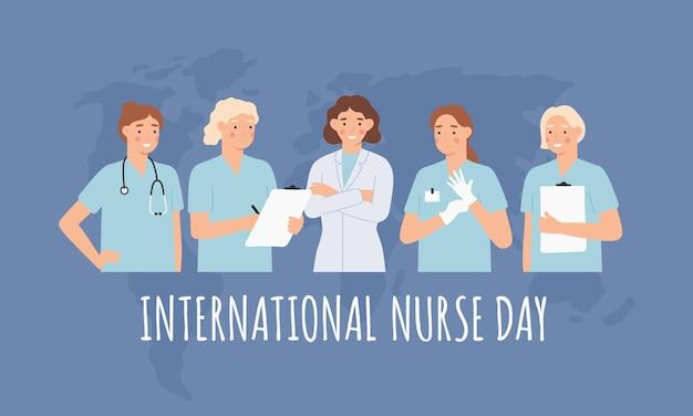 国際看護師の日イラスト
