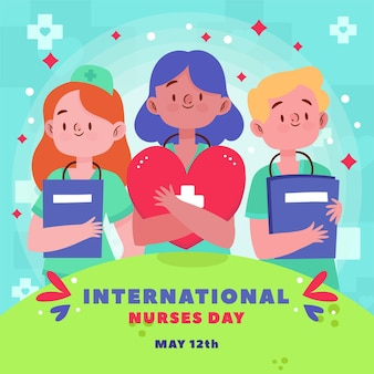 International nurses day concept