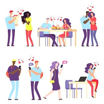 International online dating, international relationships concept