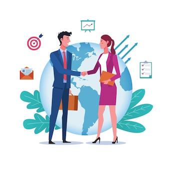 国際パートナーシップとグローバル協力の概念
