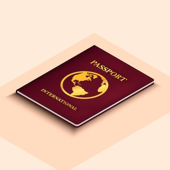 International passport illustration