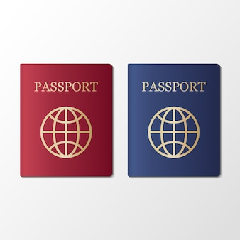 International passport on white