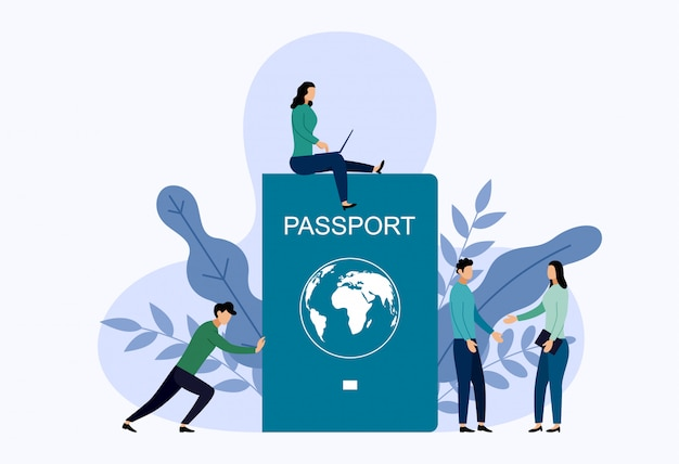 International passport with human.