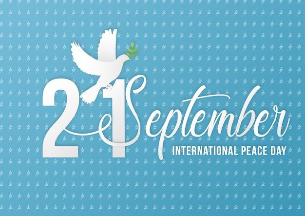 国際平和の日の背景テンプレートベクトル
