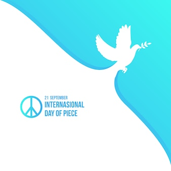 International peace day background template vector