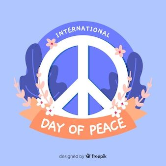International peace day background
